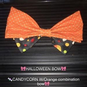 Candy corn with polka dots bow